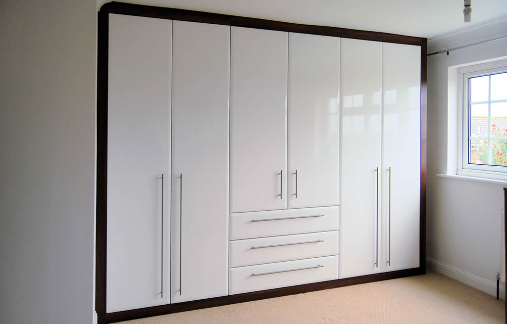Slideshow Image 1:white built-in wardrobe.